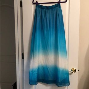 NWT White House/Black Market Teal/Aqua/White Skirt
